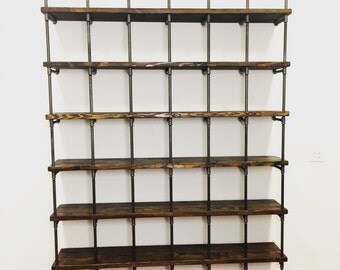 Industrial Cube shelf, Industrial Shelving, Bookcase, Open Shelving, Industrial Bookshelf, Pipe shelving unit, Industrial Envy Shelf