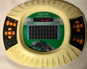 Vintage Electronic  Game - Calfax - Caprice Pro Action Strategy Football  - 1980 - Model SF2
