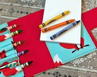 Crayon Wallet - Art Kit - Crayon Holder - Crayon Organizer - Crayon Bag Holder - Crayon Case - Homeschool Art - Homeschool Kit - Crayon Bag