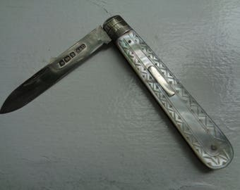Sterling/Mother-of-Pearl Folding Knife