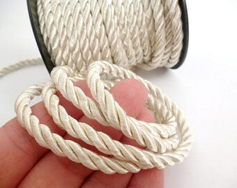 5 mm White Braided Silk Cord_PP01244557454_ BRAIDED/  White Cord_of 5 mm_Sales by yards