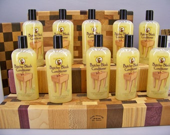 Howard Butcher Block Conditioner starting at 23.89 for a box of 3 - 12 oz. bottles. The more you buy the lower the price, check it out.