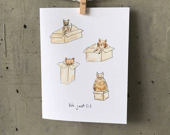 Funny Valentines Cat Card  // Funny Card // Cat Card