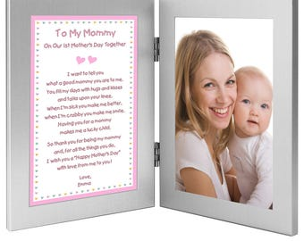 On Our 1st Mother's Day Together Poem from Daughter to Mom - New Baby Girl to Mommy Gift - Add Photo (70-009)