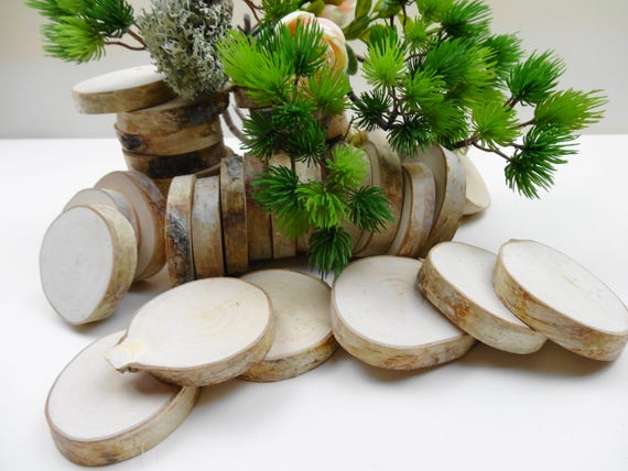 Wood Slices, Birch Tree Slices, Rustic Wedding Decor, DIY ...