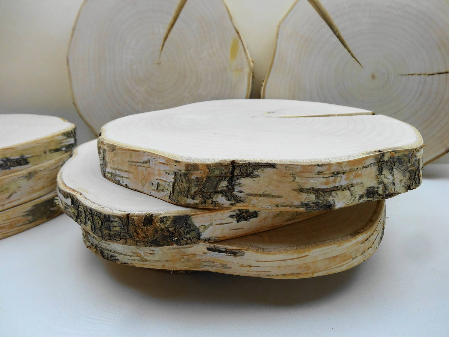10 11 wood slices wood slabs tree rounds tree trunk for Tree trunk slice ideas