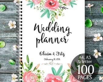 Bohemian wedding planner, DIY wedding binder, Wedding checklist, Printable wedding planner, Floral wedding planner, Wedding to do list