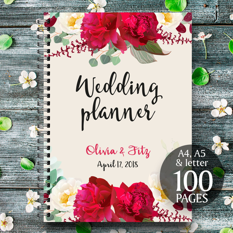 Boho Wedding Binder Printable Wedding Planner Burgundy