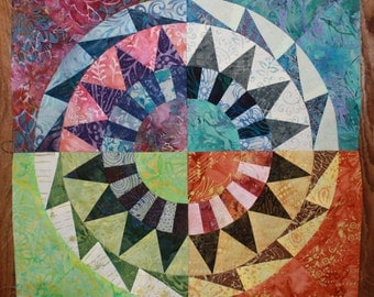NEW PATTERN-New York Beauty Quilt Block Paper Piecing Pattern - Block 4