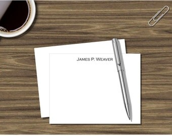 Personalized Stationary, Personalized Flat Notecard, Professional Stationary, Professional Notecard, Thank You Note, Correspondence, NC1