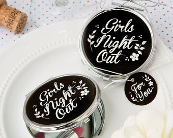 Compact Mirror Favors Girls Night Out - Compact Mirrors - Bridal Shower Favors - Mirror Compacts - Wedding Favors(5975)