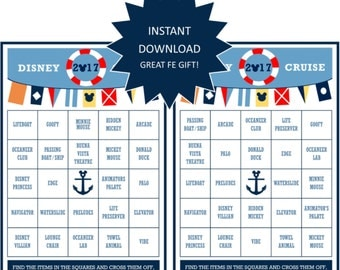 INSTANT DOWNLOAD PRINTABLE Cruise Bingo Game-Great Fish Extender Gift