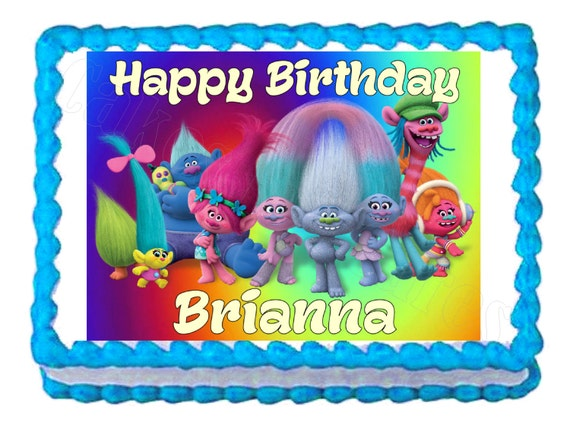 Personalized Trolls Frosting Sheet