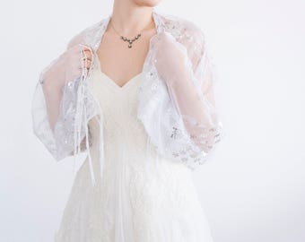 Summer Wedding Lace Bridal Shrug Tulle Shrug Wedding Wrap Bridal Wrap Bridal Bolero Wedding Shrug Bridal Cover Up Bridesmaid gift Bolero