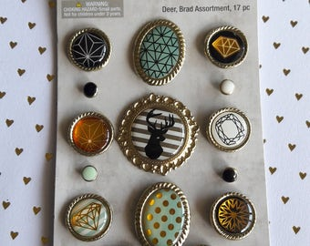 Assorted Brads By Spare Parts Scrapbooking & Paper Craft Supplies