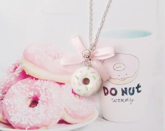 necklace donut polymer clay