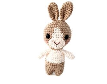 Amigurumi Crochet Pattern for Dutch Bunny Rabbit Learn to Crochet Easy Kawaii Ami Toy Stuffed Animal Plush