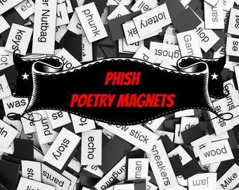 Phish Refrigerator Magnets, Poetry Word Magnets, Free Gift Wrap