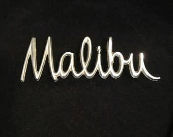 Vintage Mailbu Car Emblem