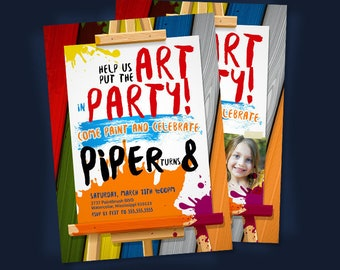 Art Party Invitation. Art Birthday Invitation. Art Birthday Party Invitation. Art Party Invite-Birthday Party Invitation. PRINTABLE