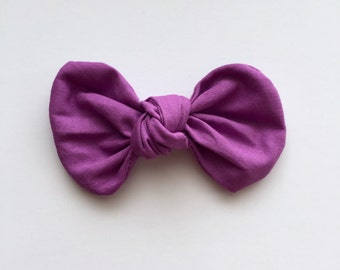 Purple Knot Bow