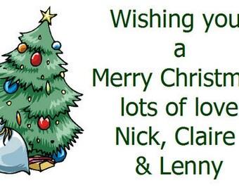 260 Personalised sticky Christmas Tree  design 8