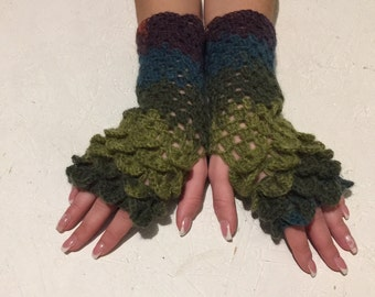 new 2017  dragon gloves Fingerless crocodile stich women fingerless gloves dragon scale  women's gloves women's Arm Warmers  gift Accessory