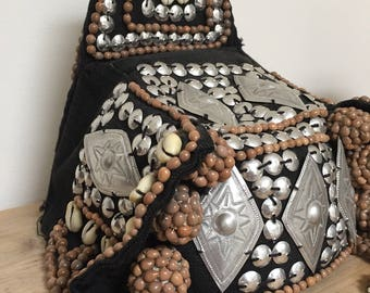 Hmong tribal headdress from the Hill tribe