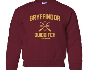 Harry Potter Sweatshirt Gryffindor Sweatshirt Harry Potter Gryffindor Quidditch Hogwarts Sweater Sweatshirt Crewneck Unisex Youth Kids