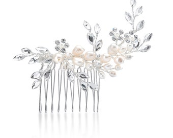 Adorned Vines of Pearl Hair Comb