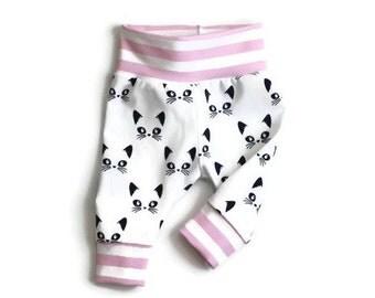 Baby leggings, baby pants, baby girl leggings, baby girl pants, going home outfit, girl leggings, baby leggings girl, cat baby leggings