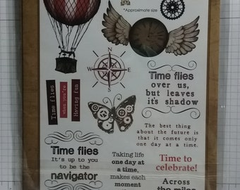 Time Flies - Shabby Chic Stamps by Debbi Moore Designs