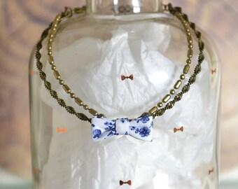 Miss Liberty fabric and brass bracelet