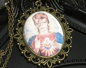 David Bowie Pendant, Dave Grohl Pendant, Lemmy Pendant, Motorhead Necklace, Foo Fighters, David Bowie, Dave Grohl, Black Pendant, Gothic