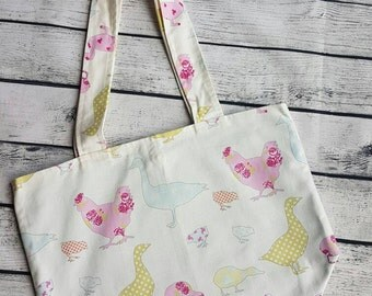 Tote Bag, Shopping Bag, Ashley Wilde Tote Bag, Ducks and Chickens