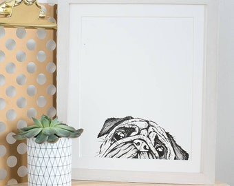 Custom pet portraits, custom dog portrait - ink drawing on quality paper from your photographs.