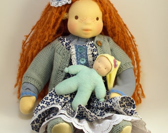 "Waldorf fabric doll - Pippi, 20"""