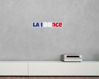 National Flag Country Name of La France Vinyl Wall Art