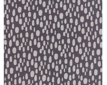 Serenity Dot Charcoal by Amy Ellis for Moda. Modern fabric. Charcoal with grey spots.