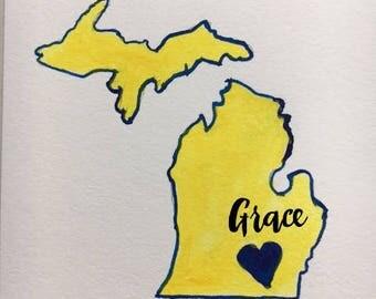Michigan Note Card
