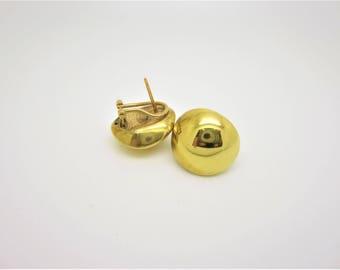 1980's 18k gold clipon post earrings (Price Negotiable)