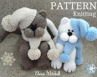 Knitting PATTERN Animal Knit Pattern Cat Animal Patterns Children Toy Knitting Doll Pattern Amigurumi Cat Baby Kids Toys Pattern PDF file