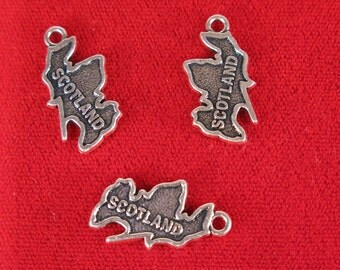 "BULK! 15pc ""Scotland"" charms in silver style (BC1179B)"