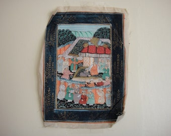 Indian Asian Art Image on Cloth.