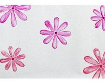 Pink Flower Border - Vinyl Peel and Stick Wall Border