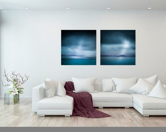 Diptych, Blue Abstract, Two Print Set, Home Decor, Canvas Large, Set of Two, Wall Art Living Room, Living room decor, extra large wall art