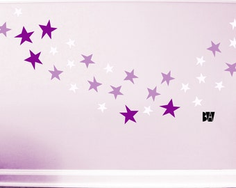 Star Decals. Bedroom Star Decor. Vinyl Decals. Wall Decal. Nursery Decor. Wall sticker. Home decor decals.
