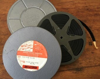 Old Metal Film Canister with Film from Lockheed Aircraft Corp.