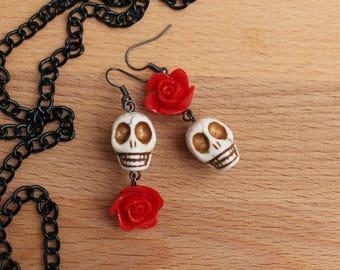 Sugar Skull Mismatched Earrings