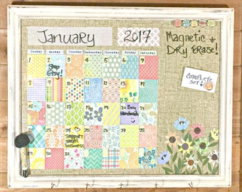 perpetual calendar complete set dry erase calendar magnet board crazy quilt - Dry Erase Calendar
